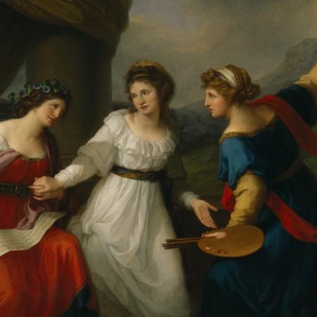 Autoportrait à la croisée des chemins entre la musique et la peinture_Kauffmann 1792