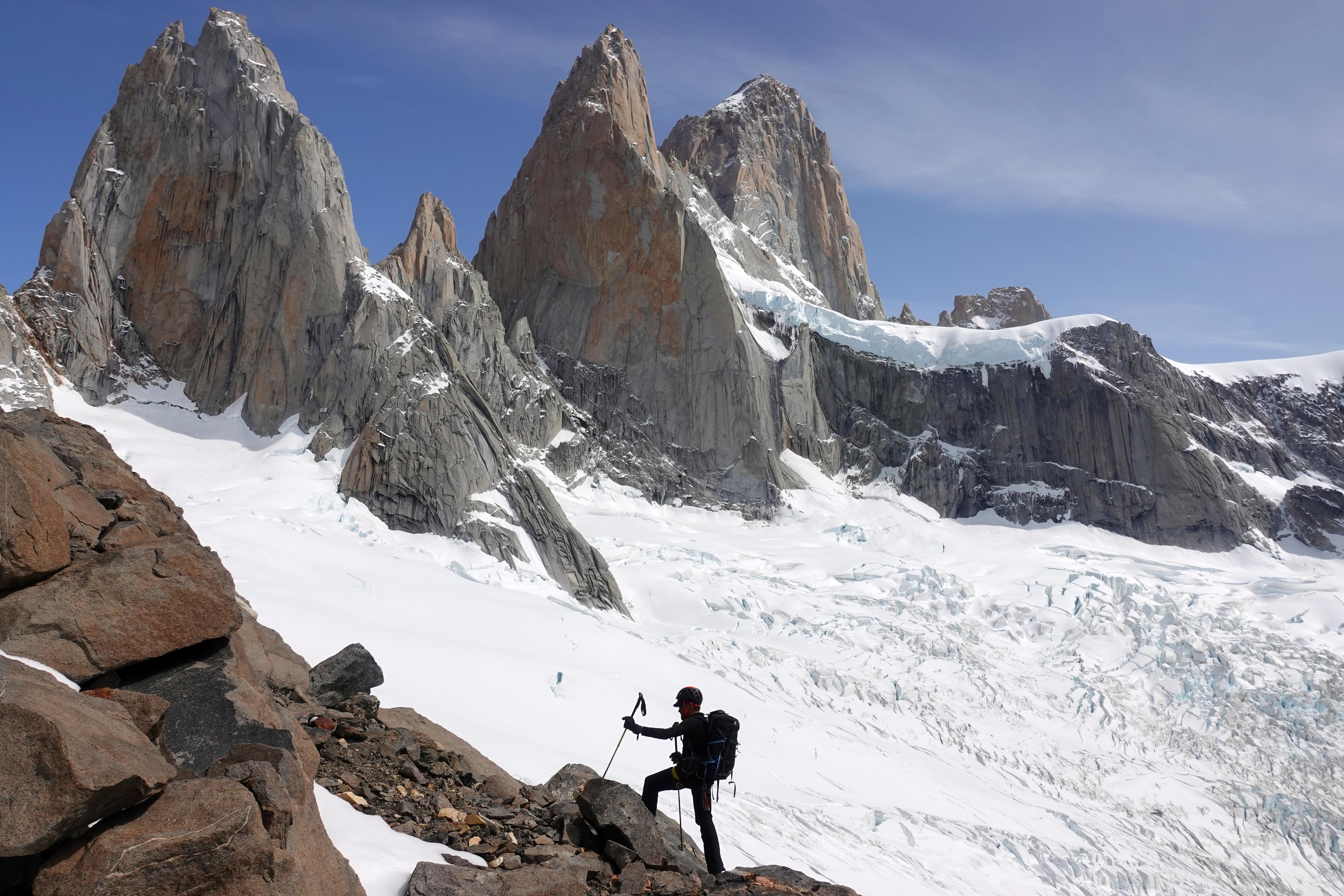 En Patagonie avec les militaires du GMHM et Sylvain Tesson dans le massif du Fitz Roy