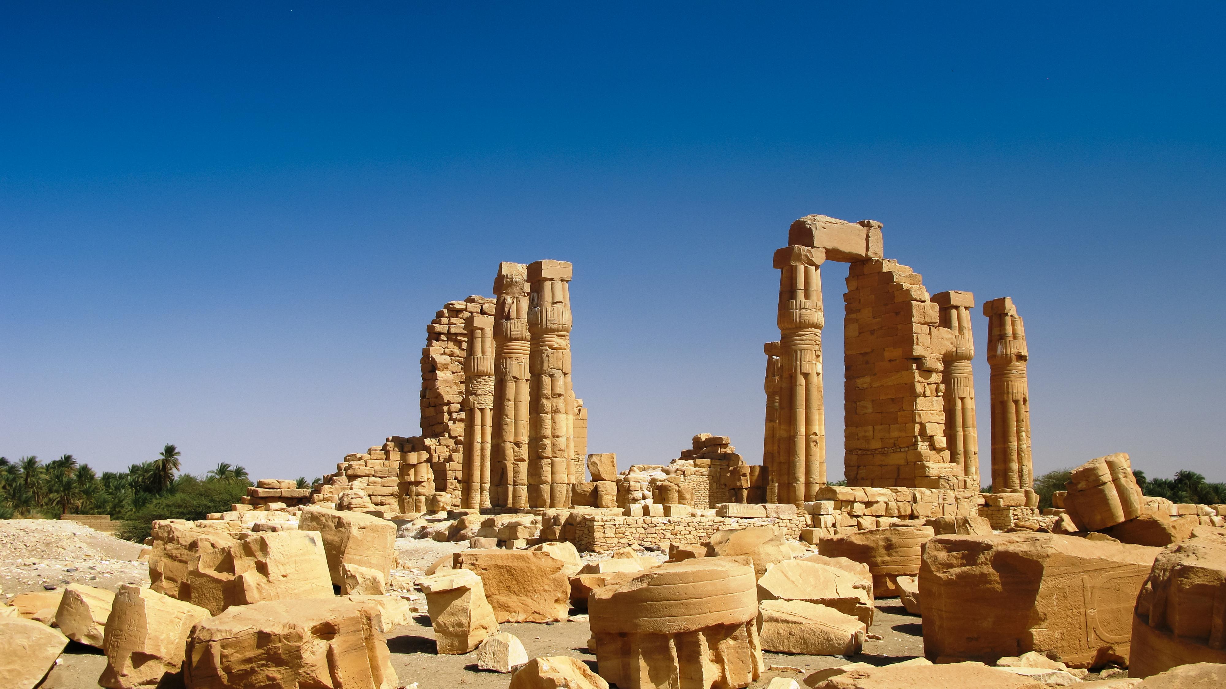 Ruines,Of,Amun,Temple,In,Soleb,,Sudan