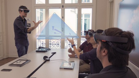 Presentation of the results of Scan Pyramids in augmented reality